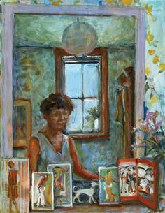 Self Portrait with Postcards, 1970, Margret OLLEY