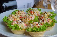 Начинка для тарталеток с ананасом и крабовыми палочками