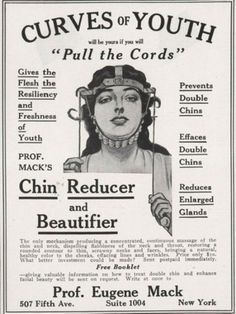 curves of youth   1890 :::::::::::::::::::::::::::::::::::::::::::::: #vintagead #oddities #advertising #chinreducer #eugenemack