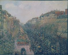 Camille Pissarro / The Boulevard Montmartre, Mardi Gras / 1897 / Oil on canvas