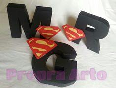 Letras 3D - tema Superman
