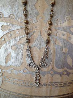 Vintage rhinestone assemblage necklace 1 von FrenchFragments