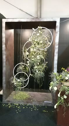 Unique Design: Handcrafted with blush and ivory open roses, rose buds, greeneries and vines on a bentwood spheres and a orbit hoop. Package & Size: Set of 2 floral hoop wreaths. The floral hoops are diameter. Deco Floral, Floral Design, Deco Champetre, Deco Nature, Deco Originale, Ceremony Backdrop, Backdrop Wedding, Garden Art, Garden Ideas