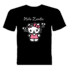 Hello kitty parody hello zombie t shirt