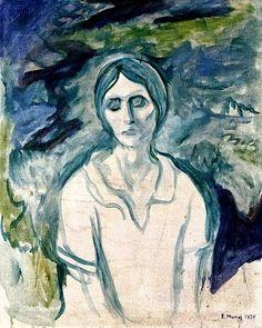Edvard Munch - The Gothic Girl, 1924