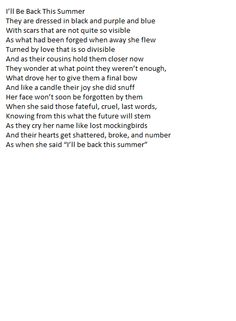 This is poem I wrote for school about a mother deserting her children...