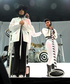 "They're just ""Givin' 'Em What They Love."" Prince and Janelle Monáe shake up the stage during a performance on Dec. 29 in Uncasville, Conn."