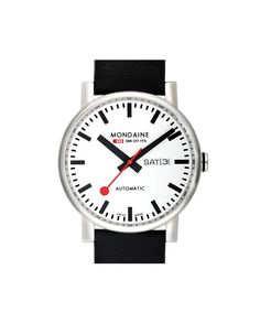 Treat the fashion forward male in your life to this sleek Evo Watch from Mondaine.