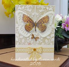"Made by Florence Churchill - ""Couture by Create and Craft - The Mariposa Collection - Pop up Butterfly."" #cardmaking"