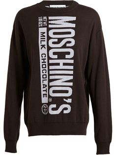 Shop Moschino 'Milk Chocolate' sweater in Browns from the world's best independent boutiques at farfetch.com. Over 1000 designers from 60 boutiques in one website.