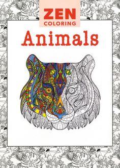 Zen Coloring Animals Adult Book