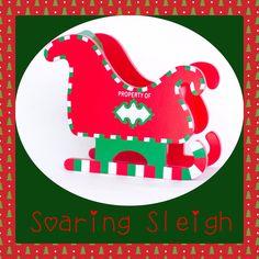 Elf Workshoppe Soaring Sleigh - Elf on a Shelf Alternative