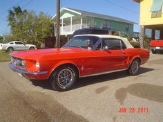 1967 Ford Mustang convertible.. yummy!