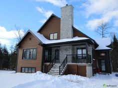 Maison à vendre St-François-Xavier-De-Brompton, 16 rue des Bernaches, immobilier Québec | DuProprio | 680646 Welcome To My House, House On A Hill, House Goals, Facade, New Homes, Construction, Brompton, Cabin, Mansions