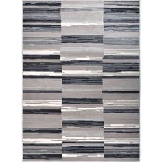 Home Dynamix Bazaar City Stripes Gray 7 ft. 10 in. x 10 ft. 2 in. Indoor Area Rug-1-6528-29 - The Home Depot