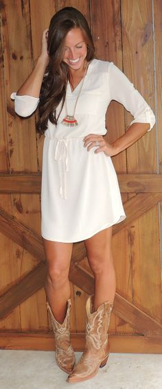 Game Day Cream Dress #ShopMCE