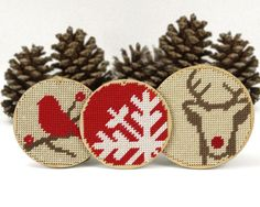 christmas ornament needlepoint kit  diy  door ModernNeedleworks