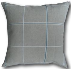 Designer Cushion Covers in Laura Ashley Arden Check Duck Egg Blue Pillows Cushion Covers Uk, Cushion Cover Designs, Duvet Covers, Duck Egg Blue Pillows, Blue Throw Pillows, Laura Ashley Material, Laura Ashley Fabric, Contemporary Cushions, Cottage Crafts
