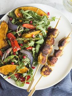 Healthy Moroccan spiced chicken skewers recipe | The Heart Foundation.  #healthyfood #heart #health #fitness #delicious #healthy #healthyfood #spicedchicken