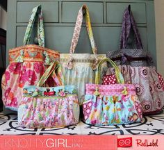 Knotty Girl Boho Bag - PDF Pattern by Red Label Patterns - buy purses online, handbags black leather, change purse *ad Bag Patterns To Sew, Sewing Patterns Free, Free Pattern, Free Sewing, Sewing Crafts, Sewing Projects, Diy Crafts, Diy Sac, Quilted Bag