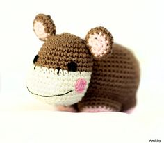 Crochet Amigurumi Hippo Stuffed Animal, Soft Baby Toy and Nursery Decoration on Etsy, 128.44 ₪