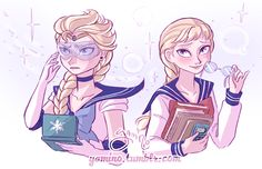 Yes! Elsa as a sailor scout.