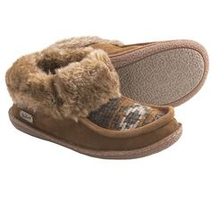 Woolrich Autumn Ridge Slipper Shoes - Suede (For Women) in Chicory