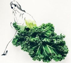 Creative Fashion Artist Utilize Colorful Food Items for Her Dress Sketches Dress Sketches, Fashion Sketches, Food Illustrations, Illustration Art, Fashion Illustrations, Harper's Bazaar, Food Artists, Fashion Silhouette, Kumamoto