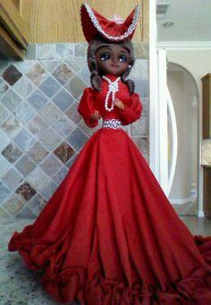 Bradley Elegant Doll 1976, African American southern belle