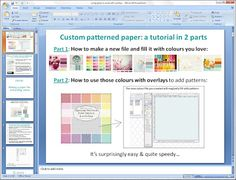 Custom patterned paper and how to use in GIMP - also really nice free patterned paper downloads