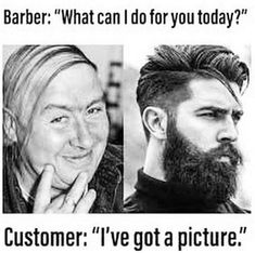 A little hair humor to get you to the weekend 😂 🤣 😂 Shoutout to Wahl Select Barber for the find! Try Not To Laugh, What Can I Do, Hair Humor, Shout Out, Barber, How To Get, Lol, Hairstyle, Feelings