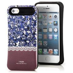 iStyle Back Cover für Apple iPhone 5 & 5S Blau-Braun