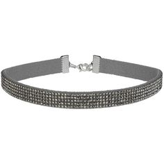 TOPSHOP Grey Rhinestone Choker ($15) ❤ liked on Polyvore featuring jewelry, necklaces, grey, rhinestone choker necklace, topshop necklace, topshop, grey necklace y gray jewelry