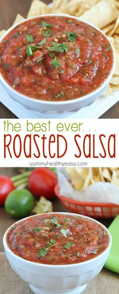 This Roasted Salsa recipe is my family's very favorite salsa recipe! It's incredibly easy and super healthy. Only a few steps to a great-tasting salsa!