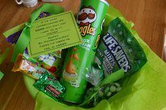 Green gift basket