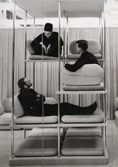 1964_ Multi-level Lounger BY VERNER PANTON