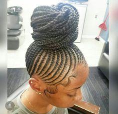 85 Box Braids Hairstyles for Black Women - Hairstyles Trends Cornrow Updo Hairstyles, Cornrows Updo, African Hairstyles, Girl Hairstyles, Hairstyle Braid, Braided Updo, Hairstyles 2018, Half Cornrows, Bob Updo