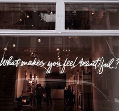 What makes you feel beautiful?