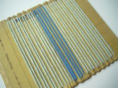 How to Weave on a Cardboard Loom -