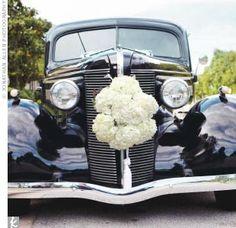 Old fashioned car . the flowers are a fabulous touch Wedding Car, Our Wedding, Wedding Stuff, Wedding Flowers, Wedding Ideas, Old Fashioned Cars, Wedding Day Inspiration, Travel Inspiration, Wedding Transportation