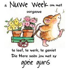 Lekker Dag, Goeie Nag, Goeie More, Afrikaans Quotes, Inspirational Quotes, Phone, Van, Garden, Gelee