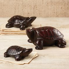 Hand carved soapstone turtles make a great gift and can be used as paperweights!