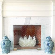 red & rock + blue for fireplace Bedroom Fireplace, Modern Fireplace, Fireplace Mantle, Fireplace Design, White Fireplace, Glass Fireplace Screen, Interior Inspiration, Design Inspiration, Interior Decorating