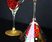 Custom Holiday Gift Ideas Chelsi Lees Designs www.facebook.com/CLDesigns www.Etsy.com/Shop/ChelsiLees Lady Bug Martini Glasses - Set of 2