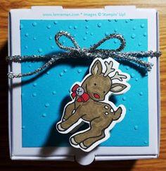 "Dena Lenneman, Stampin' Up! Demonstrator: SNEAK PEEK: Seasonal Chums Seasonal Tags Mini Pizza Boxes & 3x3"" Notecards"