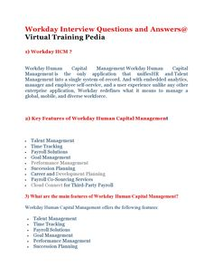 Here Are Some Interivew Questions On Workday.VTP Provides Workday Online  Training.Join VTP · Interview QuestionsTrainingWebsite