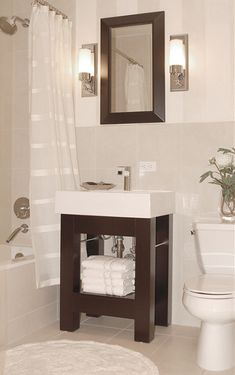 Knowing how to pick the right vanity is crucial when trying to create more space in a small bathroom.