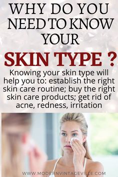 Usually skin type is classified into 5 types: normal, oily, dry, sensitive, and combination. Skin types  are affected by many factors such as  you hormones, environment, genetics, stress, sun exposure, nutrition, underlying medical conditions and many others.   Even though human skin is categorized into different types, there are no two persons with the same skin; your own skin type is like your fingerprint – there is no other like yours.   Homemade Skin Care, Diy Skin Care, Anti Aging Tips, Anti Aging Skin Care, Love Your Skin, Good Skin, Cold Medicine, Best Skin Care Routine, Natural Cough Remedies