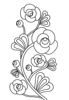 Imagenes y fotos: Dibujos de Flores para Colorear, parte 2