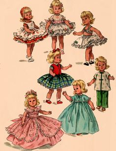 OOP Vintage 1960s Simplicity 1809 McCall Doll's by sandritocat